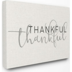 "Stupell Industries Thankful Typography Canvas Wall Art, 24"" x 30"""