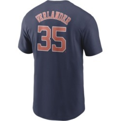 Nike Men's Justin Verlander Houston Astros Name and Number Player T-Shirt found on Bargain Bro India from Macy's for $35.00