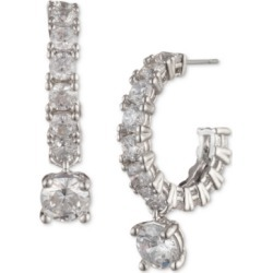 Givenchy Silver-Tone Crystal Charm Hoop Earrings found on Bargain Bro India from Macy's for $35.70