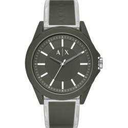 AX Armani Exchange Men's Drexler Green Polyurethane Strap Watch 44mm