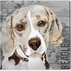 Oliver Gal Love My Beagle Canvas Art, 16