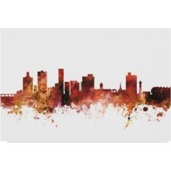 Michael Tompsett Port Elizabeth South Africa Skyline Red Canvas Art - 37