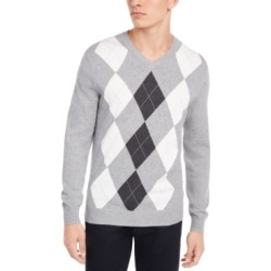 Club Room Men's Pima Argyle V-Neck Sweater, Created for Macy's found on MODAPINS from Macy's for USD $15.93