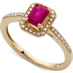 Certified Ruby (5/8 ct. t.w.) & Diamond (1/5 ct. t.w.) Ring in 14k Gold (Also Available in Sapphire & Emerald) found on Bargain Bro India from Macy's Australia for $979.07
