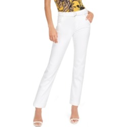 Guess Belted Straight-Leg Mid-Rise Jeans found on MODAPINS from Macy's for USD $58.80