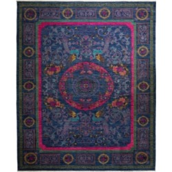 "Adorn Hand Woven Rugs One of a Kind OOAK2345 Sapphire 9'1"" x 11'8"" Area Rug"