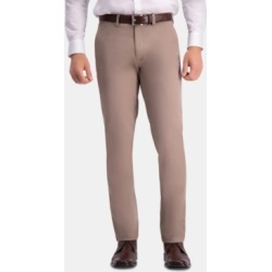 Haggar Men's Premium Comfort Khaki Slim-Fit 2-Way Stretch Wrinkle-Resistant Flat-Front Casual Pants found on MODAPINS from Macy's Australia for USD $36.91
