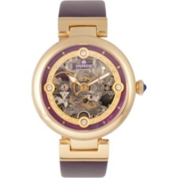 Empress Adelaide Automatic Purple Leather Watch 38mm found on Bargain Bro India from Macy's for $227.99