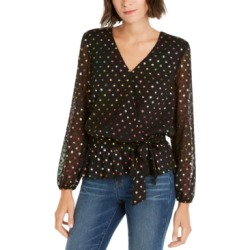 Inc Petite Rainbow Shine Dot-Print Wrap Top, Created For Macy's found on Bargain Bro Philippines from Macy's Australia for $80.75