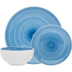 Godinger Spiral Blue 12-pc Porcelain Dinnerware Set