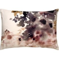 "Luli Sanchez By Jaipur Living Bryony Purple/White Floral Down Throw Pillow 14"" x 20"""