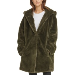 Dkny Hooded Faux-Fur Coat found on MODAPINS from Macy's for USD $99.99