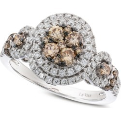 Le Vian Diamond Double Halo Ring (1-1/4 ct. t.w.) in 14k White Gold found on Bargain Bro India from Macy's for $3400.00