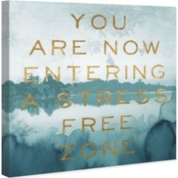 Oliver Gal Stress Free Zone Canvas Art, 12