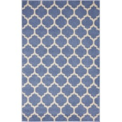Bridgeport Home Arbor Arb1 Light Blue 4' x 6' Area Rug found on Bargain Bro India from Macy's for $83.00
