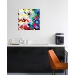 "iCanvas ""Mid Century Modern Art- Circular Motion"" by 5by5collective Gallery-Wrapped Canvas Print (26 x 26 x 0.75)"