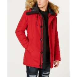 Guess Men's Hooded Parka with Removable Faux-Fur Trim found on MODAPINS from Macy's for USD $112.99
