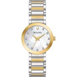 Bulova Women's Futuro Diamond-Accent Two-Tone Stainless Steel Bracelet Watch 30mm