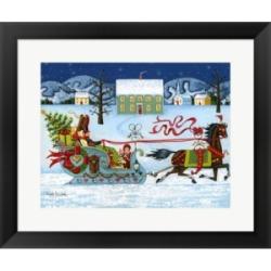 Christmas Sleigh by Joseph Holodook Framed Art