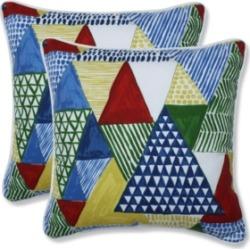 Pillow Perfect Tribune Multi Throw Pillow, Set of 2
