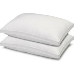Soft Plush Gusseted Soft Gel Filled Stomach Sleeper Pillow - Set of Two - Standard