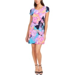Msk Printed Cap-Sleeve Swing Dress found on MODAPINS from Macy's for USD $49.00