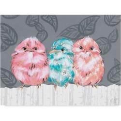 Jennifer Rutledge Bird Trio Ii Canvas Art - 15