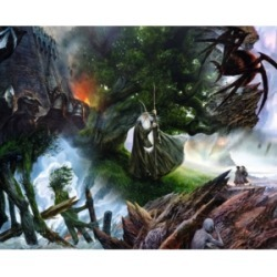 Springbok Puzzles Lord of The Rings Collage 1000 Piece Jigsaw Puzzle