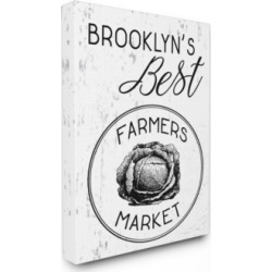 "Stupell Industries Brooklyns Best Farmers Market Canvas Wall Art, 30"" x 40"""