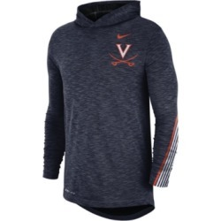 Nike Men's Virginia Cavaliers Hooded Sideline Long Sleeve T-Shirt