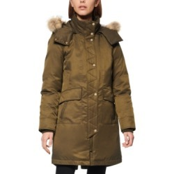Andrew Marc Fur-Trim Hooded Down Parka Coat found on MODAPINS from Macy's Australia for USD $177.18