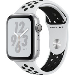 Apple Watch Nike+ Series 4 Gps, 44mm Silver Aluminum Case with Pure Platinum Black Nike Sport Band found on Bargain Bro India from Macy's for $429.00