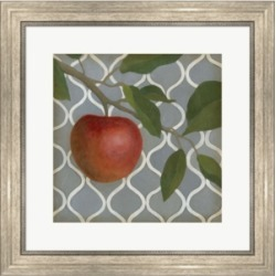 Fruit and Pattern 3 by Megan Meagher Framed Art