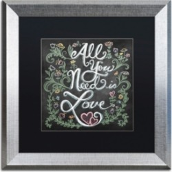 Elizabeth Caldwell 'All You Need is Love' Matted Framed Art - 16