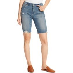 Ella Moss Denim Ripped Bermuda Shorts found on MODAPINS from Macys CA for USD $42.13