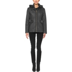 Kate Spade New York Hooded Chevron Quilted Jacket found on MODAPINS from Macy's for USD $135.99