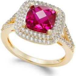 Lab-Created Ruby (2-1/2 ct. t.w.) and White Sapphire (1/2 ct. t.w.) Ring in 14k Gold-Plated Sterling Silver found on Bargain Bro India from Macy's Australia for $57.26
