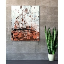 """Creative Gallery Rust Speckled Wall in Light Red Abstract 24"""" x 36"""" Acrylic Wall Art Print"""
