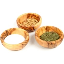 BeldiNest Wooden Spice Bowls, Set of 3 Mini Bowls