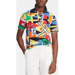 Polo Ralph Lauren Men's Nautical Flag Classic-Fit Mesh Polo Shirt found on MODAPINS from Macy's for USD $148.00