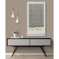 "Cordless Gii Madera Falsa 2"" Faux Wood Plantation Blind, 45x64"