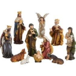 Kurt Adler 3.25-Inch Resin Nativity Figurine, 11 Pieces