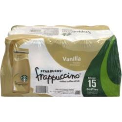 Starbucks Frappuccino Vanilla Coffee Drink, 9.5 oz, 15 Count