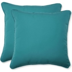 Pillow Perfect Fortress Colefax Aquamarine Throw Pillow, Set of 2