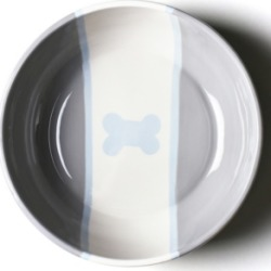 Coton Colors by Laura Johnson Stone Color Block Dog Bone Large Bowl