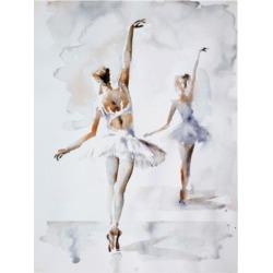Aimee Del Valle Ballerina in Blue Canvas Art - 37