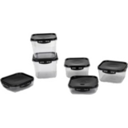 Mind Reader Shatter-Proof 12-Pc. Food Storage Meal Prep Containers with Airtight Locking Lids