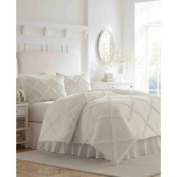 Laura Ashley Maeve Ruffle Queen Comforter Set Bedding found on Bargain Bro from Macy's for USD $136.79