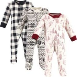 Touched by Nature Baby Girls and Boys Winter Woodland Sleep and Play, Pack of 3