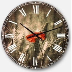 Designart Farmhouse Floral Oversized Round Metal Wall Clock found on Bargain Bro Philippines from Macy's Australia for $149.26